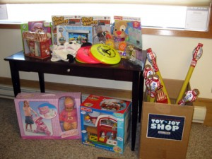 Donations to Toy N' Joy Shop 2009